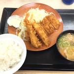 かつや - 海老とヒレカツ定食 853円