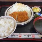 とんかつ 三条 - ロースカツ定食(並)