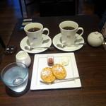 オスロ コーヒー - キングでモーニングAセット(500円)とクイーン(500円)