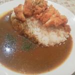 キッチンダディー - カレー+チキンカツ650円(税込)