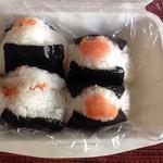 おにぎりや On  - 鮭と明太子  鮭¥220                      明太子    ¥280