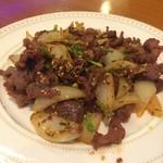 53061465 - ラム肉のクミン炒め