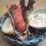 かき小屋鳥羽水産 - 牡蠣フライ