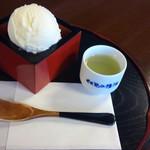 伏見夢百衆 - 清酒アイスクリーム(ゆず) 650円