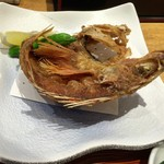 海鮮料理 みはる - 「岬 定食」(1600円)の「魚唐揚(ちょうか)」(ヒメカサゴを二度揚げ)