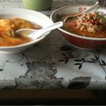 中国料理 多喜屋 - 天津飯と豚骨台湾ラーメンのセット。どちらも美味かったです。