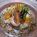 ル・ヴァン - 近海産魚介と本マグロのバルサミコ酢ソース 彩り野菜を添えて