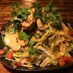 旨い魚とバリメシ 南風 - パクチーとチキンのサラダ