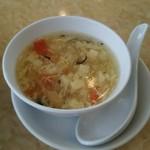 53072813 - ランチマーボー豆腐のスープ