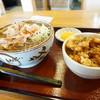 そば処 かつら - 料理写真:肉そば(冷)と小柱かき揚丼