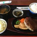 善米食堂 - 豊後牛ジャンボハンバーグ1580円