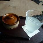 あかん鶴雅別荘 鄙の座 - ドリンク写真:ウェルカムアイテム、ゆず茶と