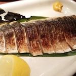 ゴチ - 炙りしめ鯖☆☆ 仕上げの炙りはテーブルでパフォーマンスもばっちり!