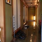 ひつまぶし 備長 - 店内、個室が3部屋ある