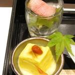 神戸和食 とよき - 豆腐風カボチャ・ローストビーフとお浸し