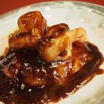 四川料理 名菜楼 - 海老とトマトの香酢ソース