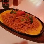 ユキ - 鮮やかな鉄板イタリアンスパゲティー、さすが元祖です♪