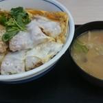 かつや - かつ丼(松)とトン汁(小)