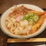 名古屋名物 名古屋丸八食堂 - カネ勘さんで、「海老天おろしきしめん (820円)」