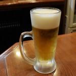 馬やど - サントリープレミアムモルツの生ビール550円