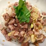 煮干しらーめん 玉五郎 - チャーシュー丼 ¥300  ツレが食べてました。一口もらったら思ったり上手に出来てます。ウリの強い玉子かけご飯よりオススメです。