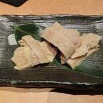 馬肉専門店 虎桜 - 焼き物単品、心根、、、いわゆる大動脈、、コリコリとか呼ぶ。