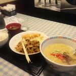 53099279 - 豚の生姜焼きからのコンビ定食+セットラーメン