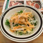 オーガニック・シクダル・マア - セットのサラダ