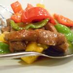 ジーテン - 黄パプリカと和牛の炒め