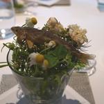 ランベリー ナオト キシモト - 天竜川の清流で育った稚鮎 蓼とアヴォカドのディップ