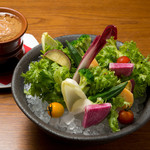 彩り野菜のバーニャカウダー  天然醸造味噌のディップ