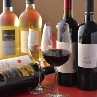 ワインの種類も豊富です