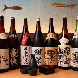 定番の日本酒から、季節の日本酒有ります。
