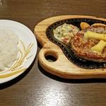 びっくりドンキー - 料理写真:「チーズハンバーグ300g」