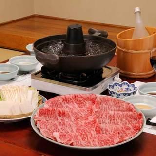 信州牛をすき焼きまたはしゃぶしゃぶ、ステーキ、ヒレ焼きで!