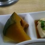 なるほどや - 鉄人セット(カボチャ&豆腐)