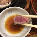 豚ステーキ十一 - ミディアムレアで実食!