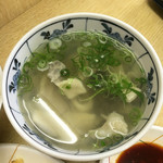 天ぷら ますい - ホルモン汁