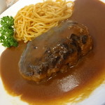 洋食キッチン cocoro - あらびきハンバーグ和牛100%