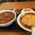 53121966 - 台湾ラーメン+天津飯