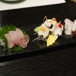 日本料理 折鶴 - お刺身三点鱧もあるΣ(゚Д゚)!上品や♡