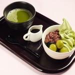 アルフィ - 宇治抹茶ソフトクリーム みつ豆