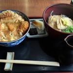 そば 寿し 花しん - 2016/7 冷やしきつねそば+カツ丼