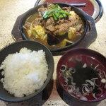 雅山GARDEN - お料理全景(これにコーヒーが付きます)