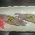 沖ちゃん - いわし握り2貫(300円)