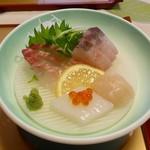 旅籠しび荘 - 夕食③(刺身)