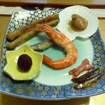 旅籠しび荘 - 夕食②(先付)