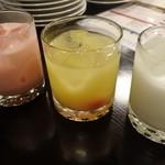 町家バル - 大内山牛乳ココナツミルク、シンデレラ、ピーチミルク