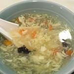 上海厨房 家楽 - 定食のスープ