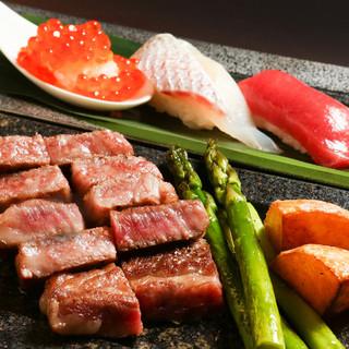 【一周年記念】極上の鉄板焼きとお寿司を特別価格でご提供。